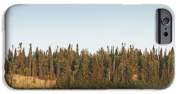Design Pics - iPhone Cases - Trees Covering An Island On Lake iPhone Case by Susan Dykstra