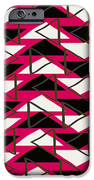 Louisa iPhone Cases - Triangles iPhone Case by Louisa Knight