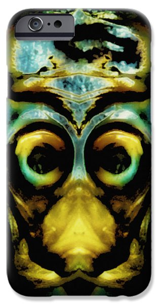 Tribal Mask iPhone Case by Skip Nall