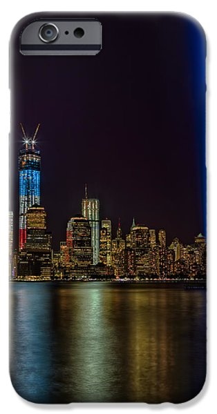 Empire State iPhone Cases - Tribute In Lights Memorial iPhone Case by Susan Candelario