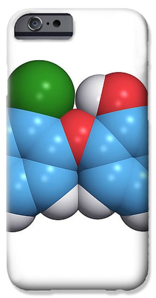Triclosan Antibiotic Drug Molecule iPhone Case by Dr Tim Evans