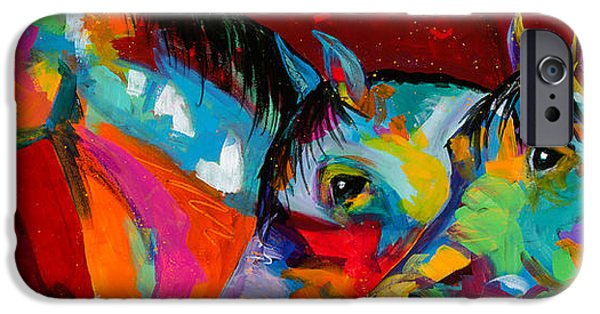 The Horse iPhone Cases - Trio iPhone Case by Tracy Miller