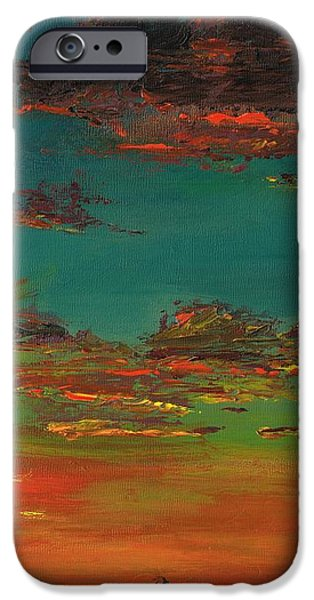 Sunset iPhone Cases - Triptych 3 iPhone Case by Frances Marino