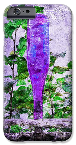 Triptych Cobalt Blue Purple And Magenta Bottles Triptych Vertical iPhone Case by Andee Design