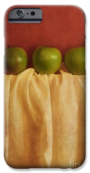 trois pommes iPhone Case by Priska Wettstein