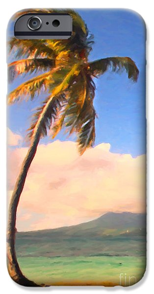 Tropical Island 2 - Painterly iPhone Case by Wingsdomain Art and Photography