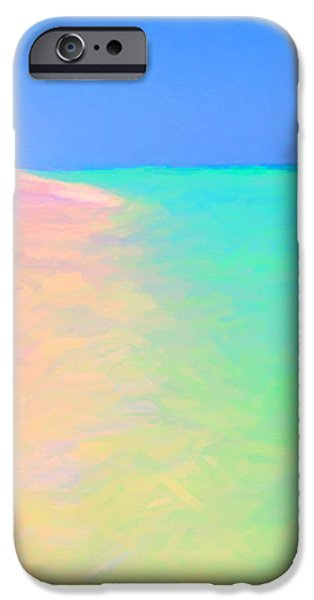 Tropical Island 7 - Painterly iPhone Case by Wingsdomain Art and Photography