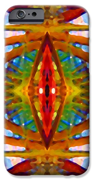 Tropical Stained Glass iPhone Case by Amy Vangsgard