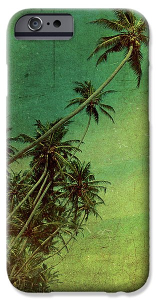 Hut iPhone Cases - Tropical Vestige iPhone Case by Andrew Paranavitana