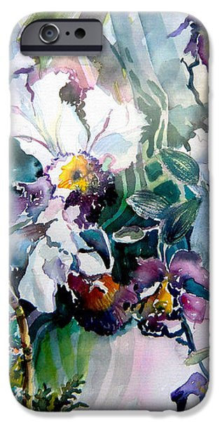 Tropical White Orchids iPhone Case by Mindy Newman