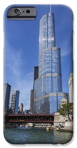 Wrigley Photographs iPhone Cases - Trump Tower Chicago iPhone Case by Adam Romanowicz