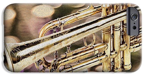 Trumpet iPhone Cases - Trumpet iPhone Case by Cheryl Young