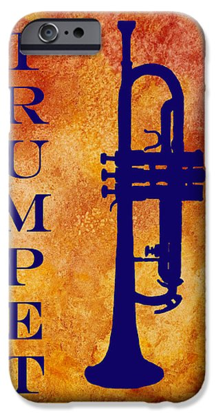 Marching Band iPhone Cases - Trumpet iPhone Case by Jenny Armitage