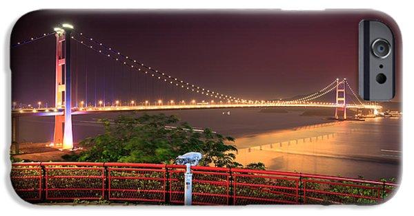 Island Stays iPhone Cases - Tsing Ma Bridge iPhone Case by MotHaiBaPhoto Prints