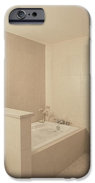 Tub and Shower in Bathroom iPhone Case by Andersen Ross