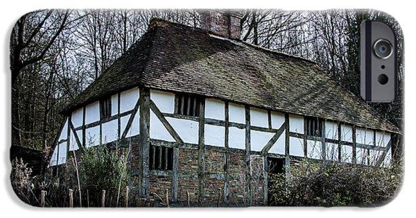 White House iPhone Cases - Tudor House Pendine Farmhouse iPhone Case by Dawn OConnor
