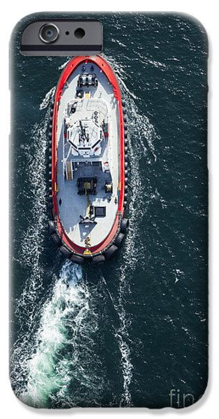 Business iPhone Cases - Tugboat in the Water iPhone Case by Don Mason
