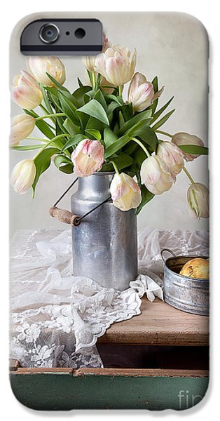 Floral Photographs iPhone Cases - Tulips and Pears iPhone Case by Nailia Schwarz