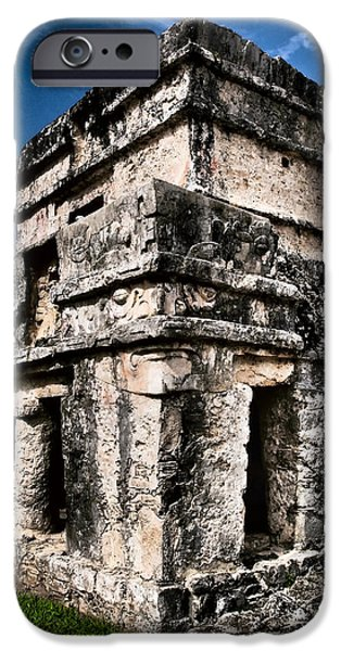 Tulum Ruinas 1 iPhone Case by Skip Hunt
