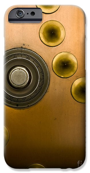 Tumbler on a Vault Door iPhone Case by Adam Crowley