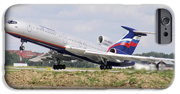 Airline Industry iPhone Cases - Tupolev 154 Aircraft, Russia iPhone Case by Ria Novosti