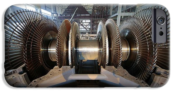 Electrical Equipment iPhone Cases - Turbine Rotor Installation iPhone Case by Ria Novosti