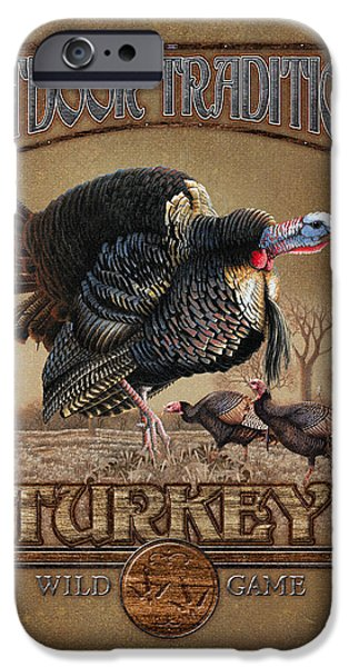 Pine Paintings iPhone Cases - Turkey Traditions iPhone Case by JQ Licensing