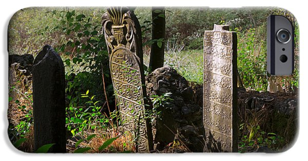 Headstones iPhone Cases - Turkish cemetery in rural Mugla Province iPhone Case by Louise Heusinkveld