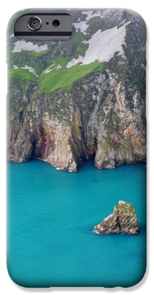 turquoise sea at Slieve League cliffs Ireland iPhone Case by Pierre Leclerc Photography