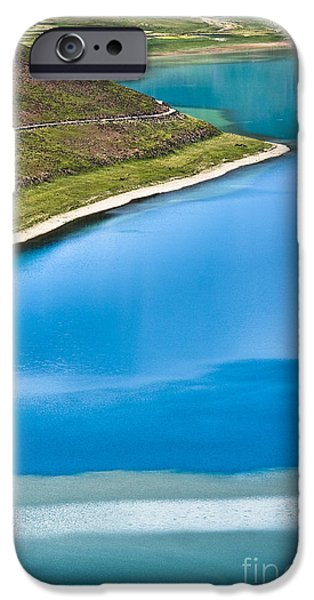 Lakescape iPhone Cases - Turquoise water iPhone Case by Hitendra SINKAR