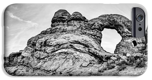 Moab iPhone Cases - Turret Pano iPhone Case by Chad Dutson