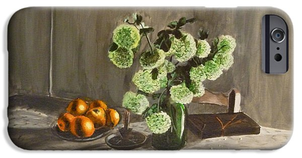 """indoor"" Still Life Paintings iPhone Cases - Tuscan Kitchen iPhone Case by Demian Legg"