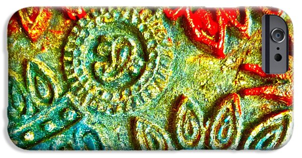 Textile Photographs iPhone Cases - Tuscany batik iPhone Case by Gwyn Newcombe