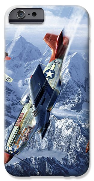 Mustang iPhone Cases - Tuskegee Airmen  iPhone Case by Kurt Miller