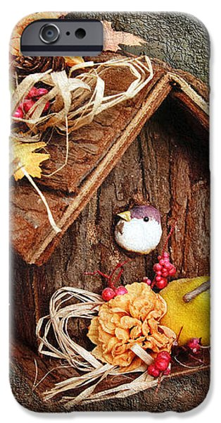 Tweet Little Bird House iPhone Case by Andee Design