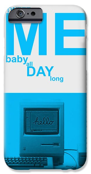 Internet iPhone Cases - Tweet me baby all night long iPhone Case by Naxart Studio
