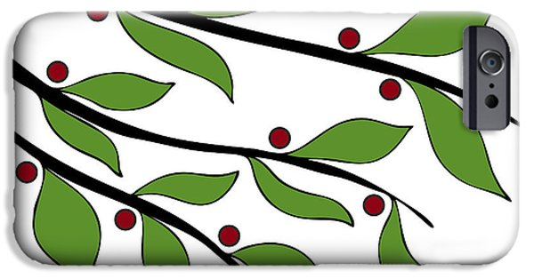 Nature Abstracts Drawings iPhone Cases - Twigs iPhone Case by Frank Tschakert
