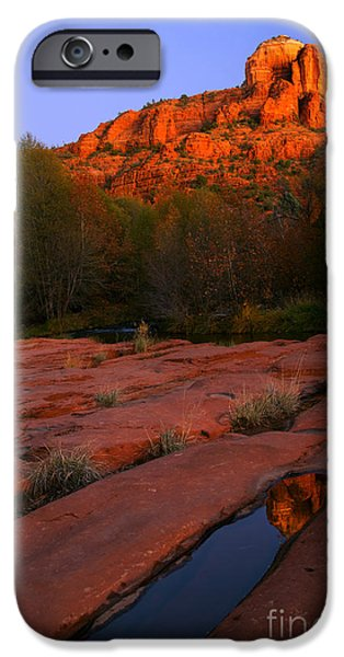 Oak Creek iPhone Cases - Twilight Cathedral iPhone Case by Mike  Dawson