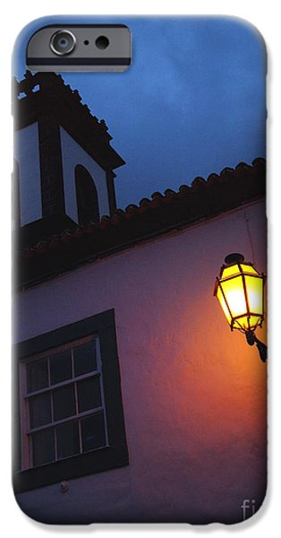 Night Lamp iPhone Cases - Twilight iPhone Case by Gaspar Avila