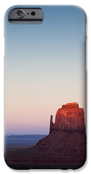 Monument Valley iPhone Cases - Twilight in the Valley iPhone Case by Dave Bowman
