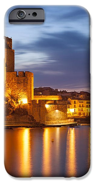 Twilight over Collioure iPhone Case by Brian Jannsen