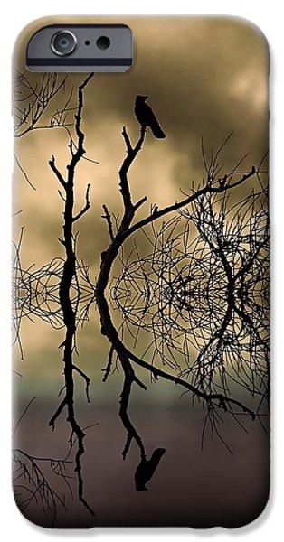 Tree Art Print iPhone Cases - Twilight iPhone Case by Sharon Lisa Clarke