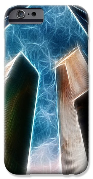 Twin Towers Nyc iPhone Cases - Twin Towers iPhone Case by Paul Ward