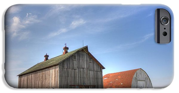 Illinois Barns iPhone Cases - Twins iPhone Case by David Bearden
