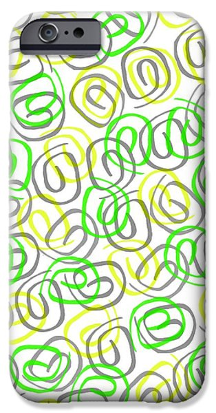 Louisa iPhone Cases - Twirls iPhone Case by Louisa Knight