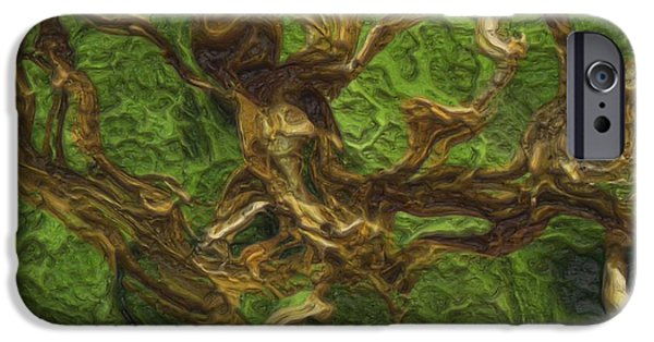 Disorder Digital iPhone Cases - Twisted iPhone Case by Jack Zulli