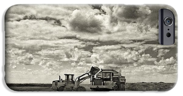 Construction Equipment iPhone Cases - Two Cats iPhone Case by Patrick M Lynch