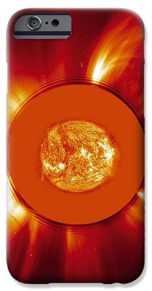 Two Coronal Mass Ejections iPhone Case by Solar & Heliospheric Observatory consortium (ESA & NASA)