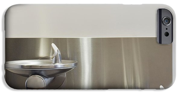 Stainless Steel iPhone Cases - Two Drinking Fountains iPhone Case by Andersen Ross