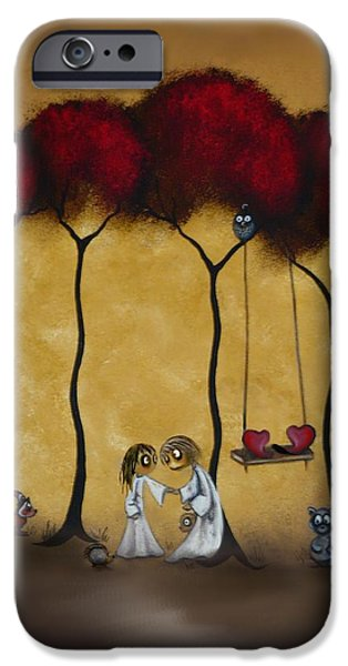 Whimsical iPhone Cases - Two Hearts iPhone Case by Charlene Zatloukal